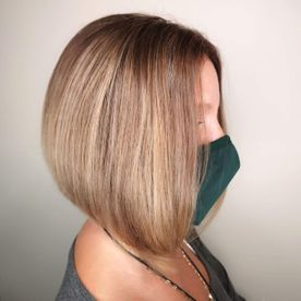 styled woman hair