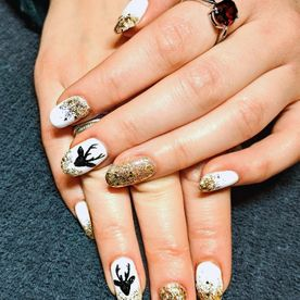 view of nail art design