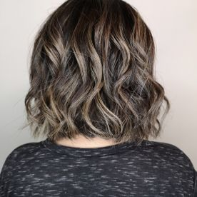 short hair after adding curls