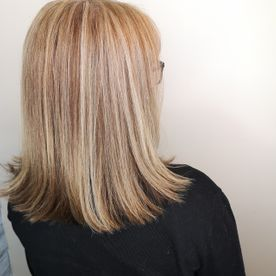 shoulder length hair after straightening