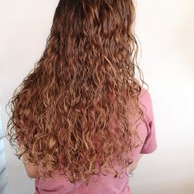heavy curly hair