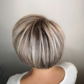 back view of short hair